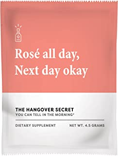 Hangover Secret – Alcohol Recovery and Hangover Prevention Remedy. Pharmacist Developed Natural Liver Detox, Vitamins and Electrolytes for Replenishment. NAC, Milk Thistle Powered. Watermelon (6ct)