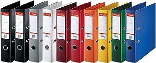 Esselte, Standard, Pack de 10 Classeurs à levier, Assorti classique, Dos 75mm, A4, PP, 624177