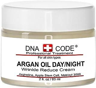 DNA CODE- Organic Argan Oil Day/Night Wrinke Reduce Cream, w/Argireline, M3000, Apple Stem Cell, Hyaluronic Acid