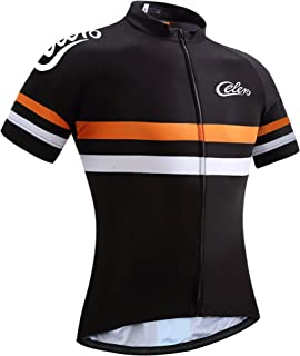 Celero Men's Cycling Suits Short Sleeve Bike Jersey and Bib Shorts