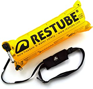 Restube BEACH One-Pull Uppblåsbar Vattensäkerhets Boj | Flythjälp för Simning, Fiske, Segling och SUP | Kompakt One Size F...
