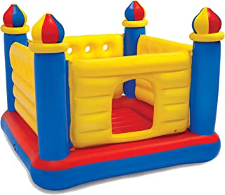 Kids Inflatable Bouncy Castle Bouncing Bouncer Jumper Indoor Outdoor Activity with hand air pump, 48259