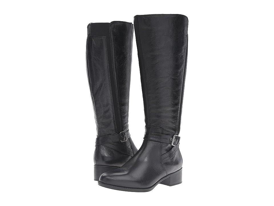 Naturalizer Wynnie Wide Calf (Black Leather) Women