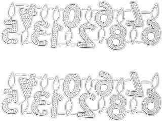 VORCOOL 2 Ensembles de D' Anniversaire Découpes D' Anniversaire Bougie Outils De Coupe DIY Scrapbooking Outils