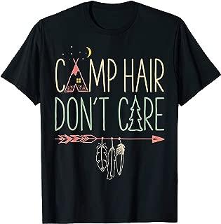 Camp Hair Don't Care T shirt Camping Camper Women Girls Kids