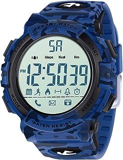 Beeasy Orologio sportivo digitale da uomo, 5ATM Orologio da surf da nuoto impermeabile, militare per uomo Ragazzi con cont...
