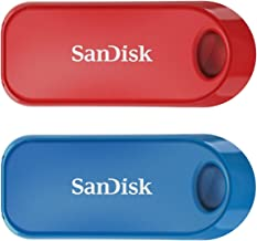 【Amazon.co.jp限定】 サンディスク USBメモリ 32GB レッド・ブルー 2個パック USB 2.0 SanDisk Cruzer Snap SDCZ62-032G-A46TW