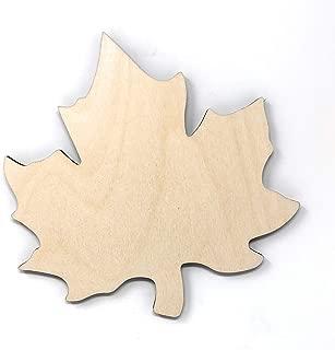 wooden leaf cutouts