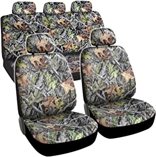 BDK Camo Car Seat Covers - Full 9 Piece Set - Waterproof Protection for Car Truck SUV Van - Camouflage (Maple Forest)