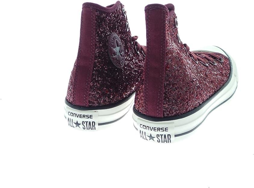 Converse - Converse All Star Scarpe Donna Bordeaux Glitter ...