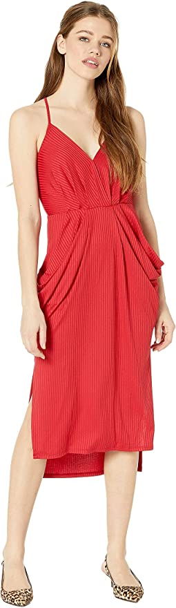 Cocktail Drapey Pocket Knit Dress