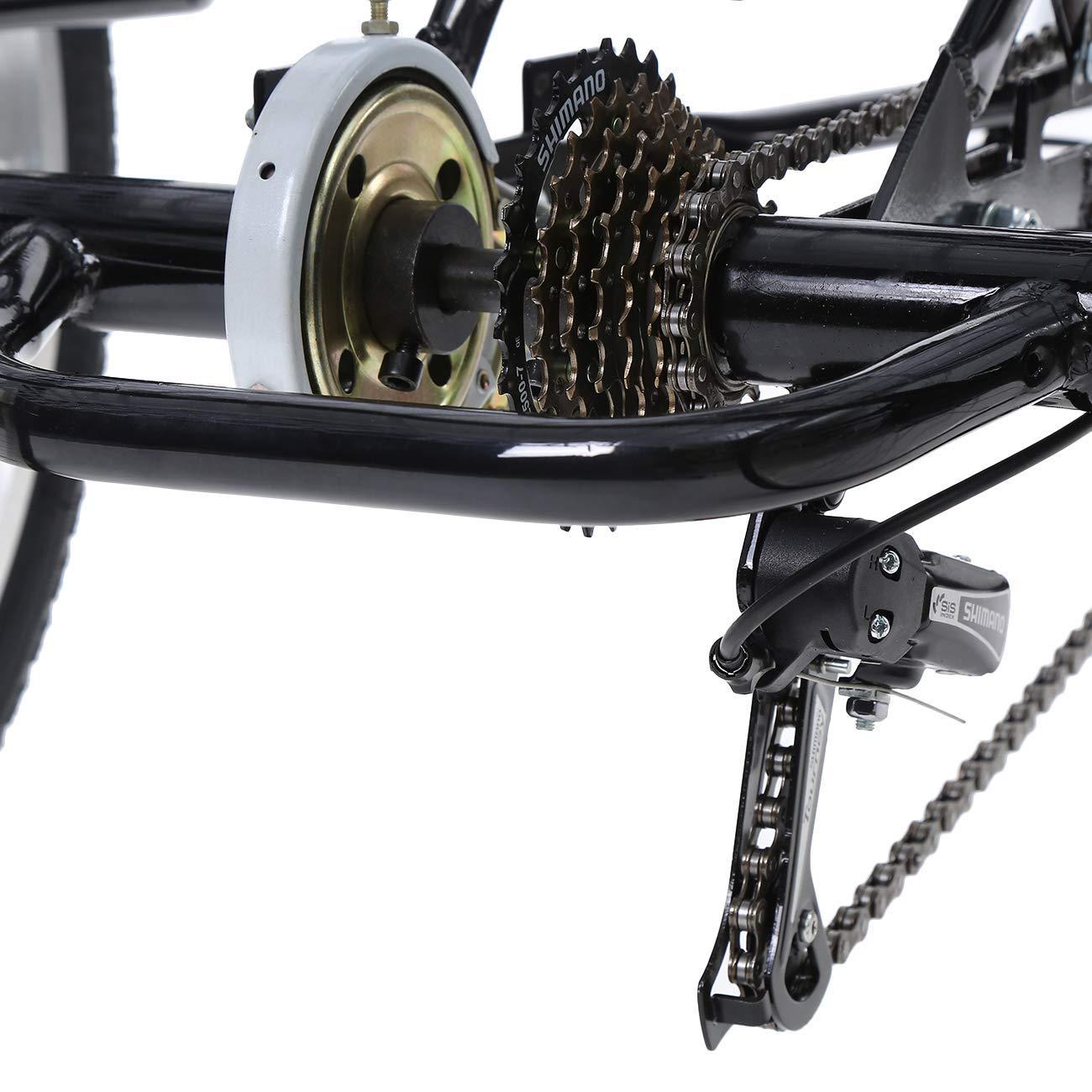 Iglobalbuy Bicicleta de Crucero Ajustable de 3 Ruedas para Adultos ...