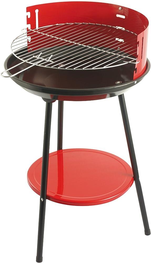 Galileo casa ,barbecue, tondo, rosso, ferro e acciaio, 42 cm 2145379