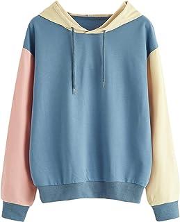 SweatyRocks Women's Casual Geometric Long Sleeve Crop Top Sweatshirt