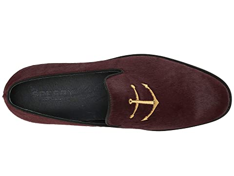 Smoking Black Sperry Slipper PonyBurgundy Leather Overlook PonyZebra Hqx4gZ