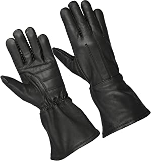 Hugger Deer Soft Classic Unlined Gauntlet Motorcycle Riding Driving Glove