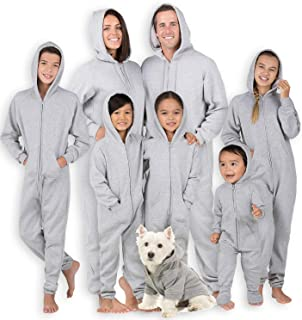 Joggies - Family Matching University Gray Hoodie Onesies for Boys, Girls, Men, Women and Pets