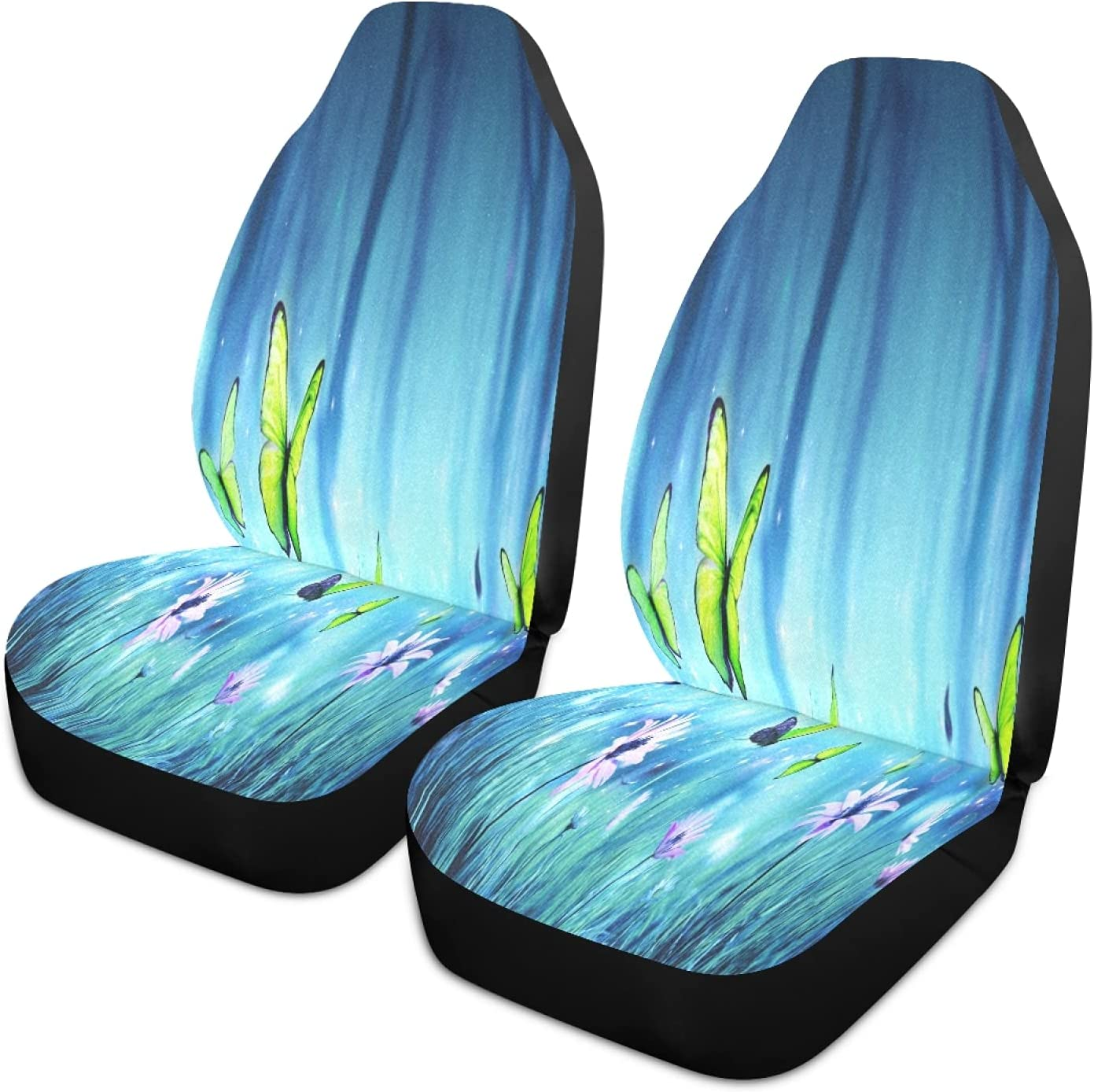 xigua 2PCS Beautiful Forest Max 60% OFF Butterfly Anti Covers Front 25% OFF Car Seat
