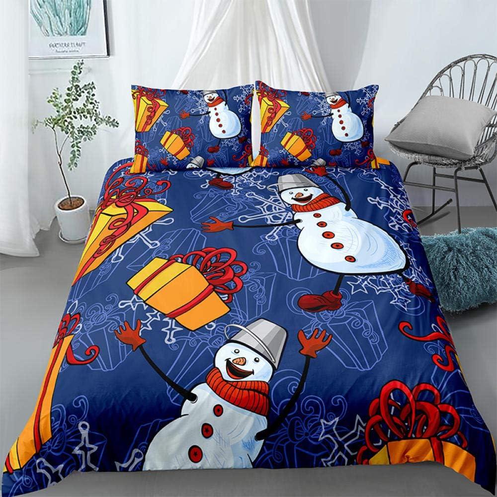 Quantity limited Cute Snowman Duvet Cover Home 3 Piece New arrival Bedding Bedclothes Set 3D