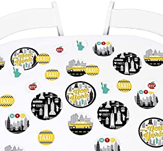 Big Dot of Happiness NYC Cityscape - New York City Party Giant Circle Confetti - Party Decorations - Large Confetti 27 Count