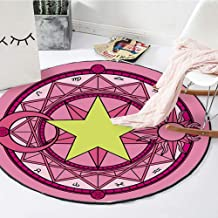 Rugs Crystal Velvet Round Children's Creeping Pad Washable Machine Washable Warm Wearable Carpet,2,200cm