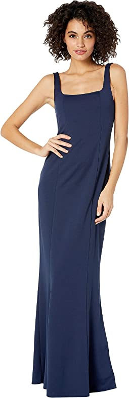 Rich Navy Crepe Stretch