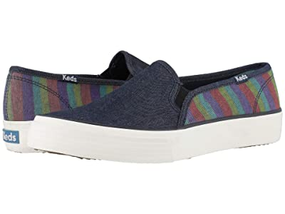Keds Double Decker Denim Stripe (Navy Multi Denim) Women