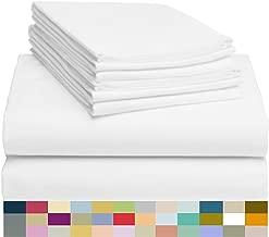 LuxClub 6 PC Sheet Set Bamboo Sheets Deep Pockets 18