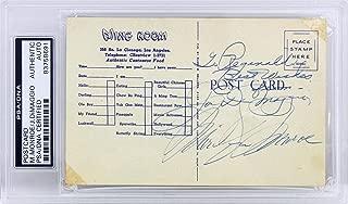 Marilyn Monroe & Joe DiMaggio Signed 3.5x5.5 Postcard Slabbed - PSA/DNA Certified - MLB Cut Signatures