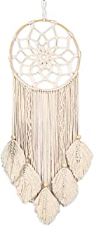 GoolRC Dream Catchers Handmade Woven Dreamcatchers for Wall Hanging Decoration with Leaves Large Dream Catcher for Baby Ro...