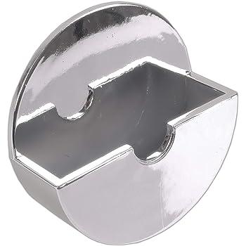 White//Chrome Self Adhesive No Rust Bath Kitchen Sink Plug Tidy Holder Stick On