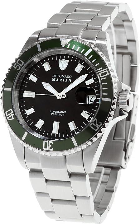 Detomaso dt3006-b orologio da polso, quadrante analogico da donna, cinturino in acciaio inox, colore argento