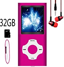 $21 » MP3 Player / MP4 Player, Hotechs MP3 Music Player with 32GB Memory SD Card Slim Classic Digital LCD 1.82'' Screen Mini USB Port with FM Radio, Voice Record