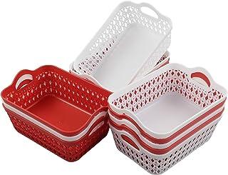 Kiddream Set of 12 Mini Storage Basket Plastic, Plastic Storage Trays