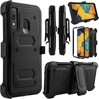 جراب Venoro Galaxy A20، جراب Galaxy A30، جراب Galaxy A50، جراب جراب متين لحماية الجسم بالكامل مع مشبك حزام دوّار ومسند لهاتف Samsung Galaxy A20/A30/A50 6. 4 بوصات