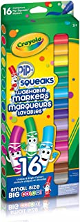 Crayola 16 Pip-Squeaks Broad Line Washable Markers Arts & Crafts