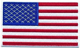 hegibaer 30 x 20 mm Amerika Flagge USA Flag Washington Patch Aufnäher Aufbügler 0640 Mini
