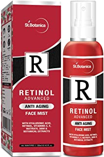 StBotanica Retinol Advanced Anti Aging Face Mist - With Hyaluronic Acid, Vitamin C, E, Matrixyl 3000 & Botanical Extracts,...