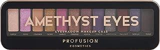 Profusion Cosmetics Pro Makeup Case Amethyst Eyes Eyeshadow Palette