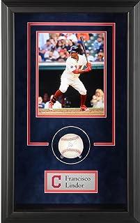 Francisco Lindor Cleveland Indians Framed Autographed Baseball Shadowbox - Fanatics Authentic Certified