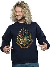 HARRY POTTER Men's Hogwarts Distressed Crest Sweatshirt