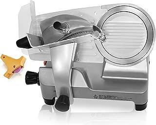 ミナト 業務用ミートスライサー (高品質イタリア製回転刃/アルミ製) (PMS-220F 回転ブレード直径:220mm)
