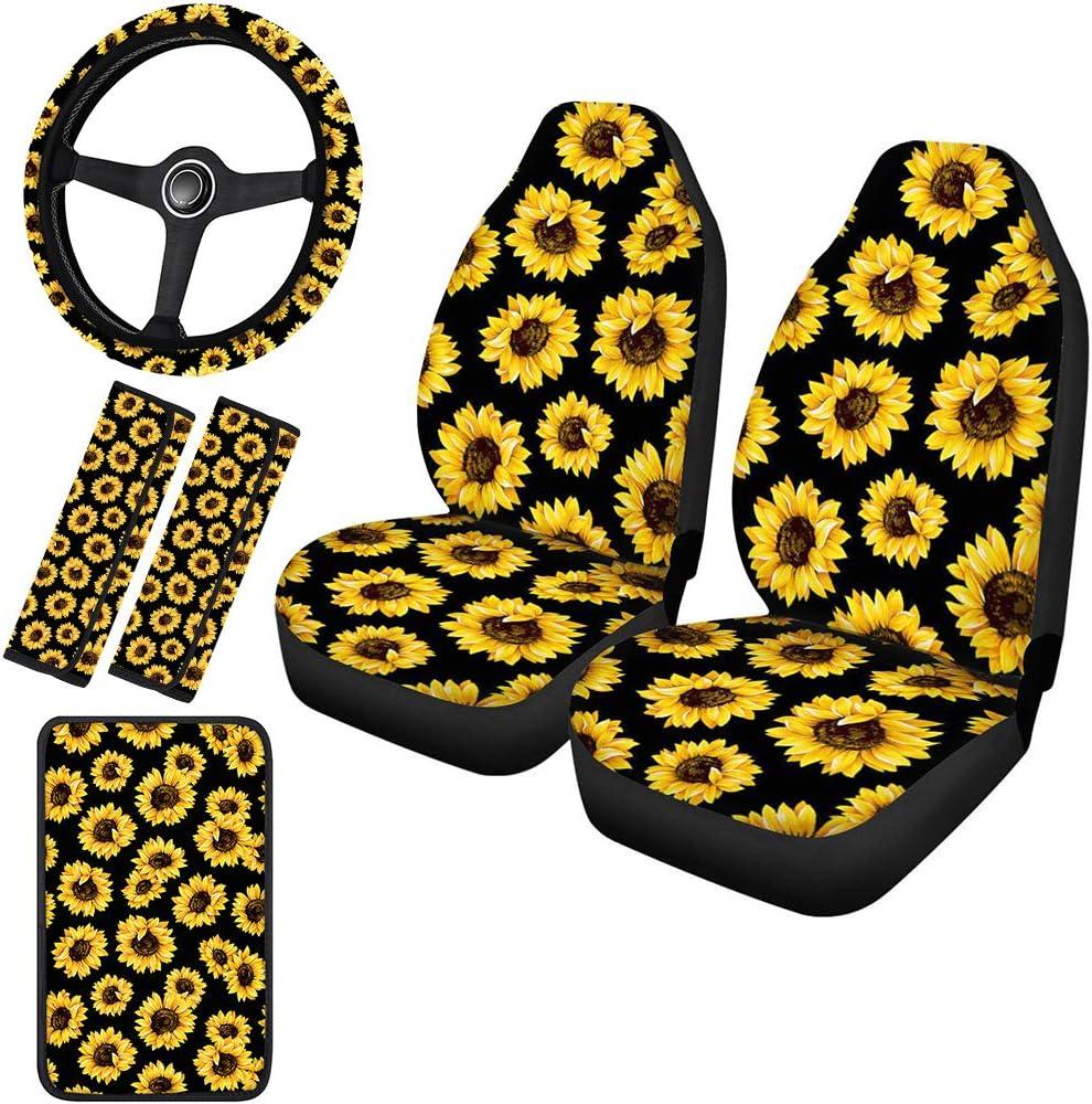 Horeset Classic Yellow Sunflowers Printed S Car Gifts Full Covers Seat Superlatite