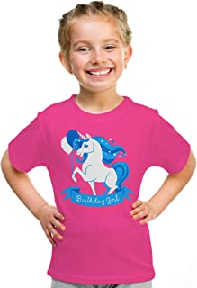 Birthday Girl Unicorn | Neon Pink Unicorn B-Day Party Top Girls' Youth T-Shirt