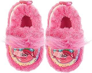Poppy Girls' Faux Fur Warm Comfy Fuzzy Slipper, Pink