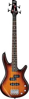 Ibanez 4 String Bass Guitar, Right, Brown Sunburst (GSRM20BS)