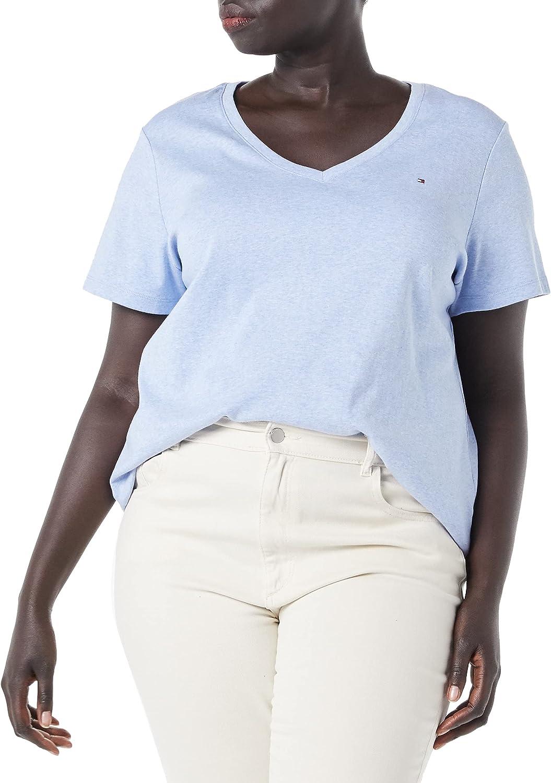 Tommy Hilfiger Women's Short Sleeve V-Neck T-Shirt (Standard and Plus Size)