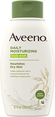 Aveeno Daily Moisturizing Body Wash with Soothing Oat, Creamy Shower Gel, Soap-Free and Dye-Free, Light Fragrance, 12...