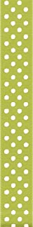 Offray Grosgrain Confetti Dot Craft Ribbon, 5/8-Inch X 9-Feet, Lime Juice and White, Acrylic, Multicolour, 8.12x7.87x2.28 cm