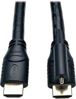 Tripp Lite High Speed HDMI Cable with Ethernet and Locking Connector, Ultra HD 4K x 2K, 24AWG (M/M), 10-ft. (P569-010-LOCK)